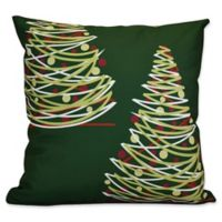 E by Design O Tannenbaum Throw Pillow in Green