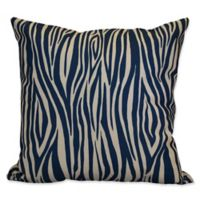 E by Design Wood Stripe Geometric Throw Pillow in Navy