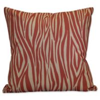 E by Design Wood Stripe Geometric Throw Pillow in Coral