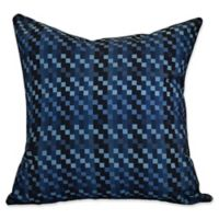 E by Design Mad for Plaid Square Throw Pillow in Blue