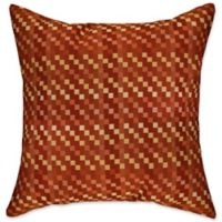 E by Design Mad for Plaid Square Throw Pillow in Rust