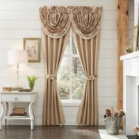 Croscill® Camille 84-Inch Rod Pocket Window Curtain Panel Pair in Sand