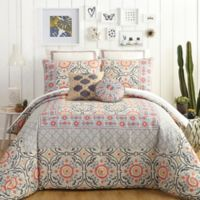 Jessica Simpson Puebla King Comforter Set in Grey/Ivory