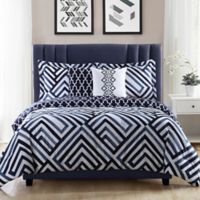 Studio 17 Swing 5-Piece Reversible Full/Queen Comforter Set in Navy