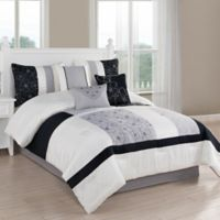 Studio 17 Brighton 7-Piece King Comforter Set in Black