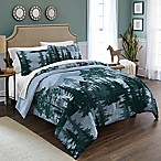 Destinations Spruce Trees Reversible Full/Queen Comforter Set in Blue