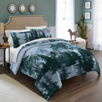 Destinations Spruce Trees Reversible Twin Comforter Set in Blue