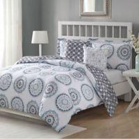 Studio 17 Calypso 5-Piece King Reversible Comforter Set in Navy