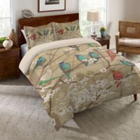 Laural Home Birds and Blossoms King Comforter