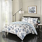 Marble Hill Giselle Queen Reversible Comforter Set in Blue/Ivory
