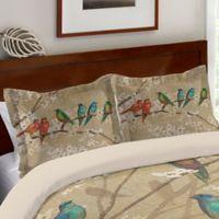Laurel Home Birds and Blossoms Standard Pillow Sham