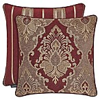J. Queen New York™ Crimson Square Throw Pillow in Red