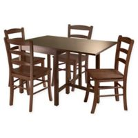 Winsome Lynden 5-Piece Dining Set in Antique Walnut