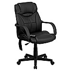 Flash Furniture High-Back Massaging Executive Office Chair in Black