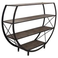Reclaimed Wood & Metal Bookcase