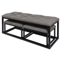 Parson Style Benches in Grey (Set of 3)