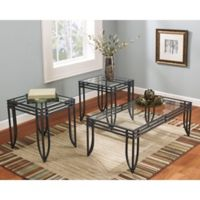 Flash Furniture Laney 3-Piece Occasional Table Set in Black
