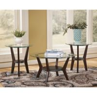 Flash Furniture Fantell 3-Piece Occasional Table Set in Dark Brown