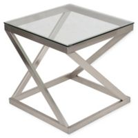 Flash Furniture Coylin End Table in Brushed Nickel