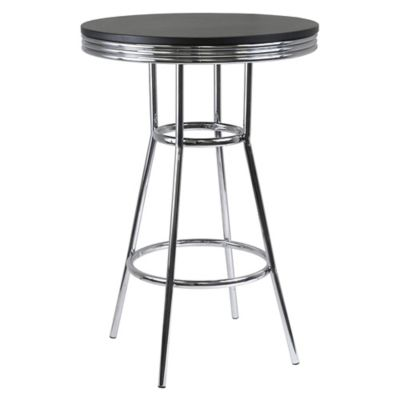 Winsome Trading Summit Pub Table In Black/Chrome
