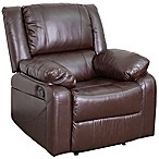 Flash Furniture Faux Leather Recliner in Brown