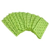 Design Imports Pack of 12 Dot Microfiber Kitchen Towels in Pistachio