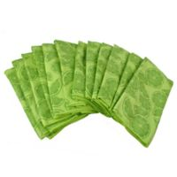 Design Imports 12-Pack Citrus Microfiber Kitchen Towels in Lime