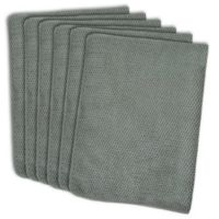 Design Imports 6-Pack Textured Microfiber Kitchen Towels in Grey