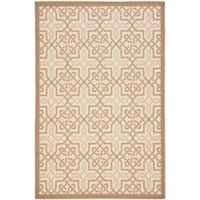 Safavieh Courtyard Gwen 6-Foot 7-Inch x 9-Foot 6-Inch Indoor/Outdoor Area Rug in Beige