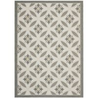 Safavieh Courtyard Paola 8-Foot x 11-Foot Indoor/Outdoor Area Rug in Light Grey