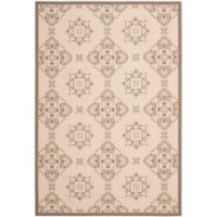 Safavieh Courtyard Ciara 6-Foot 7-Inch x 9-Foot 6-Inch Indoor/Outdoor Area Rug in Tan