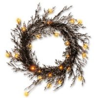 National Tree Pre-Lit 26-Inch Halloween Wreath