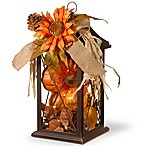 National Tree Company® LED Floral Harvest Arrangement Lantern in Orange