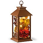 National Tree Company® LED Harvest Arrangement Lantern in Brown
