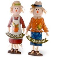 National Tree Company 28-Inch Scarecrow Children (Set of 2)