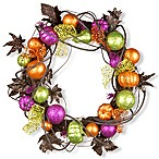National Tree 20-Inch Multicolored Halloween Wreath
