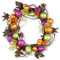 National Tree 20-Inch Multicolored Halloween Wreath