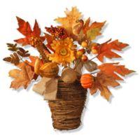 National Tree Company® 16-Inch Maple Leaf Wall Basket in Orange