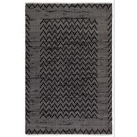 Fab Habitat Allure 5-Foot x 8-Foot Area Rug in Black/Cream