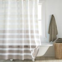 DKNY Highline 54-Inch x 78-Inch Stripe Stall Shower Curtain in Taupe