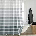 DKNY Highline Stripe 72-Inch x 72-Inch Shower Curtain in Grey