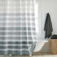 DKNY Highline 54 Inch X 72 Stripe Stall Shower Curtain In Grey