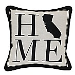 Brentwood Originals 12-Inch x 12-Inch California Rustic Home State Throw Pillow