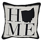 Brentwood Originals 12-Inch x 12-Inch Ohio Rustic Home State Throw Pillow