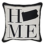 Brentwood Originals 12-Inch x 12-Inch Pennsylvania Rustic Home State Throw Pillow
