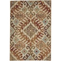 Capel Rugs Jacob-Diamond 5-Foot 3-Inch x 7-Foot 8-Inch Area Rug in Sunset