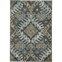 Capel Rugs Jacob-Diamond 2-Foot 7-Inch x 4-Foot 7-Inch Accent Rug in Azure Yellow