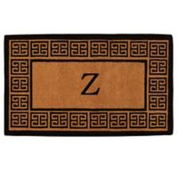"Home & More Grecian Monogrammed ""Z"" 18-Inch x 30-Inch Thick Door Mat in Natural"