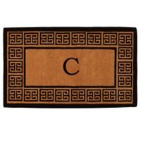 "Home & More Grecian Monogrammed ""C"" 18-Inch x 30-Inch Thick Door Mat in Natural"