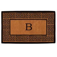 """Home & More Grecian Monogrammed """"B"""" 18-Inch x 30-Inch Thick Door Mat in Natural"""